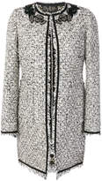 Giambattista Valli bouclé coat with floral appliqué