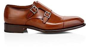 Santoni Men's Ira Double Monk Strap Leather Dress Shoes