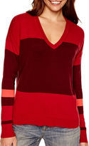 JCPenney A.N.A a.n.a Long-Sleeve V-Neck High-Low Sweater