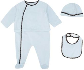 Fendi Three-piece Blue Baby Set