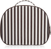 Henri Bendel Brown & White Hatbox Train Case