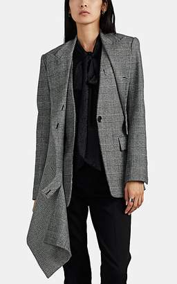 Proenza Schouler Women's Draped Checked Flannel Blazer - Black Pat.