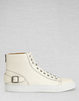 Belstaff Borough High-Top Sneakers Off White