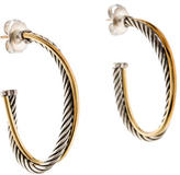 David Yurman Crossover Oval Hoop Earrings