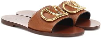 Valentino VLOGO leather slides
