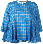 Peter Jensen flared dog print blouse
