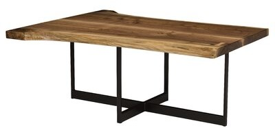 Thumbnail for your product : MacKenzie-Dow Live Edge Coffee Table Color: Acanthus