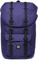 Herschel Little America Blue Marl Canvas Backpack