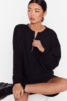 Nasty Gal Womens Zip It Mini Sweatshirt Dress - black - 6