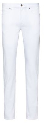 HUGO Slim-fit jeans in rinse-washed stretch denim