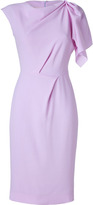 Lilac One-Sleeve Wool Crepe Dress