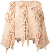 Ulla Johnson tassel fringed poncho - women - Cotton - XS/S