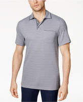 Tasso Elba Men's Supima® Blend Striped Pocket Polo, Only at Macy's