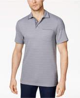 Tasso Elba Men's Supimaandreg; Blend Striped Pocket Polo, Created for Macy's