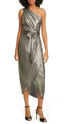 Ted Baker Gabria One-Shoulder Midi Cocktail Dress