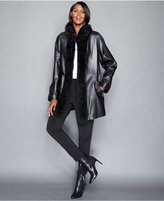 Real Fur Lined Coat - ShopStyle