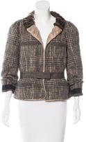 Louis Vuitton Bouclé Velvet-Trimmed Jacket
