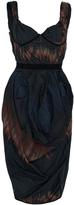 Brock Collection Deandra Fire Strip Tulip Dress