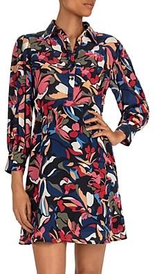BA&SH ba & sh Catty Floral Shirt Dress