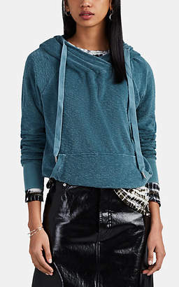 NSF Women's Lisse Reverse French Terry Surplice Hoodie - Turquoise