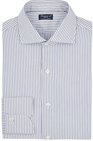 Finamore Men's Fine-Striped Poplin Shirt-NAVY