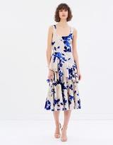 Lover Watercolour Twist Midi Dress