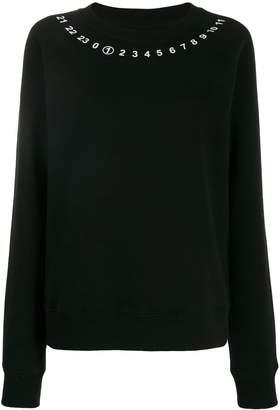 Maison Margiela signature number print sweater