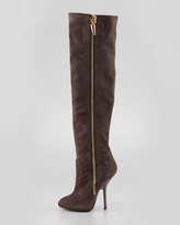 Giuseppe Zanotti Suede Over-the-Knee Side-Zip Boot