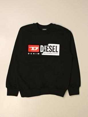Diesel Crewneck Sweatshirt In Cotton With Logo
