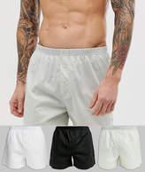 Asos Design ASOS DESIGN 3 pack woven boxer monochrome save-Multi
