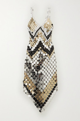 Paco Rabanne Chainmail Midi Dress - Silver