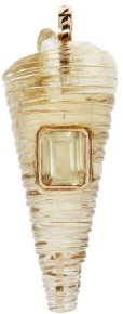 Dezso Telescopio Quartz, Citrine & 18kt Rose Gold Charm - Yellow