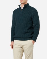 N.Peal Chunky Waffle Collared Cashmere Sweater