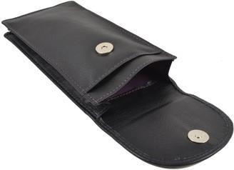 Mala Leather Quality Double Pocket Glasses Spec Case Magetic Stud Flap Reading (Black)