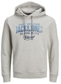 Jack and Jones Men's Logo Long Sleeve Sweatshirt Hoodie