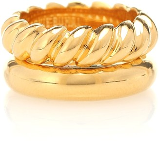 Sophie Buhai Stacked Rope 18kt gold-vermeil ring