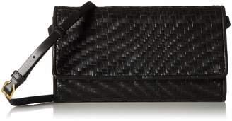 Cole Haan Genevieve Leather Woven SMARTHPHONE Crossbody Bag