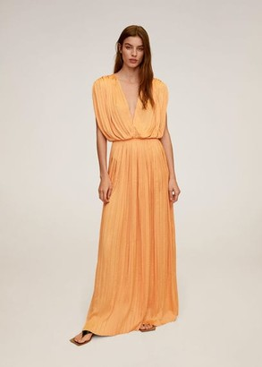 MANGO Draped gown
