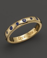 "Monica Rich Kosann 18K Yellow Gold ""I Love You More"" Posey Ring with Sapphires"
