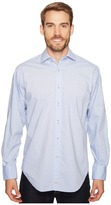 Thomas Dean & Co. - Long Sleeve Textured Solid Sport Shirt Men's Clothing