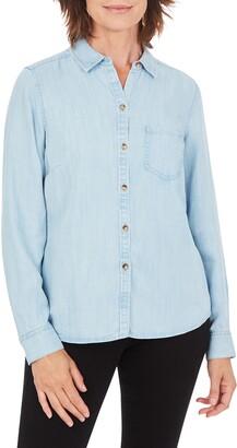 Foxcroft The Hampton Chambray Button-Up Shirt