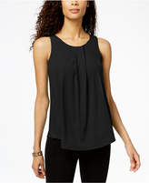 Charter Club Pleated Crew-Neck Shell, Created for Macy's