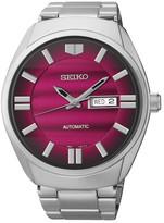 Seiko Men&s Red Dial Bracelet Watch