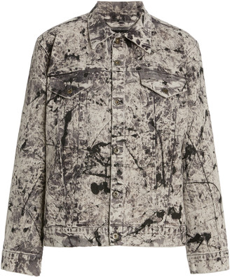 MONITALY Tie-Dyed Denim Trucker Jacket