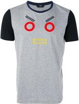 Fendi 'Monster Eyes' appliquéd T-shirt - men - Cotton - 46