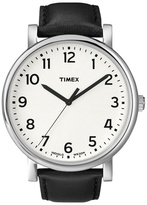 Timex Oversized Originals White Dial With Black Strap Watch T2n338