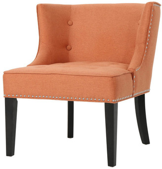 Gdfstudio GDF Studio Aria Fabric Occasional Wing Back Chair, Orange