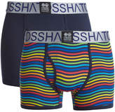 Crosshatch Men's Spectromic 2-Pack Boxers - Rainbow/Navy