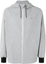 MAISON KITSUNÉ Seersucker David hooded jacket - men - Cotton/Cupro - L