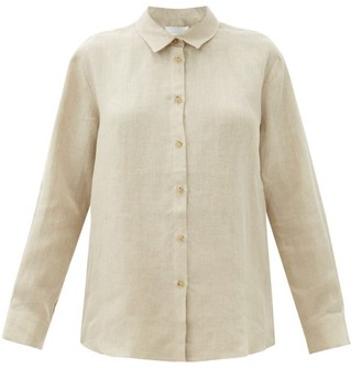 ASCENO Milan Organic-linen Shirt - Light Beige